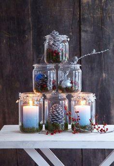 DIY Weckglas-Pyramide - Schnelle Deko-Ideen für Weihnachten z.B. mit diesen Mason-Jars!