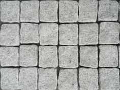 Dove Grey Granite Exfoliated Cobblestones on mesh sheets. Sheet Size: in a Linear Pattern SALE NOW ON Cobblestone Pavers, Linear Pattern, Sheet Sizes, Dove Grey, Granite, Tiles, Garden, Mesh, Products