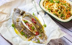 Baked Whole Lemon Sole With Ginger & Chilli Sauce | Eat Drink Paleo