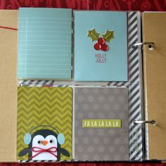 December Daily album created by design team member Teri Anderson using our black SN@P! Binder and Christmas SN@P Set