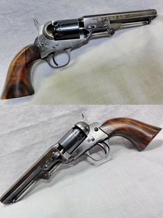 American Colt M 1849 pocket revolver with a Japanese stamp in the barrel, the gun was in Japan when one of the Meiji period national roundup/registrations of weapons took place.