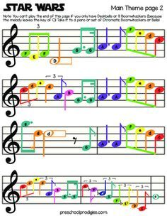 Star Wars Sheet Music by Preschool Prodigies Playground | Teachers Pay Teachers