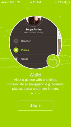 App: walkthrough screen