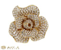 18k yellow gold with diamond 1300171 by braxjewelers on Etsy, $4550.00