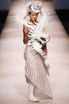 XuMing Haute Couture Collection of the China Fashion Week S/S Collection 2013 in Beijing, China.