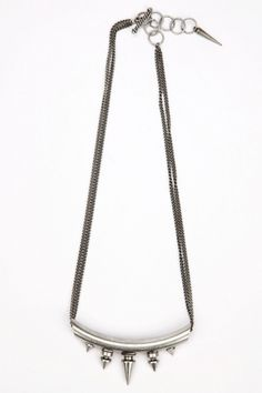Minusey Phi Spiked Necklace.