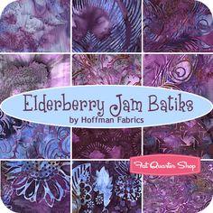 JULY 13----Elderberry Jam Batiks Fat Quarter Bundle Hoffman Fabrics - Fat Quarter Shop
