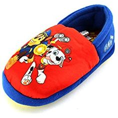 Paw Patrol Kids A-Line Slippers (Toddler, Red Marshall & Chase)