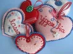 Hearts...vintage buttons...