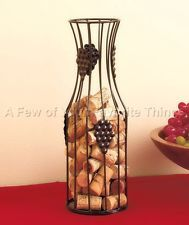 WIRE CARAFE WINE BOTTLE CORK HOLDER KITCHEN BAR HOME DECOR