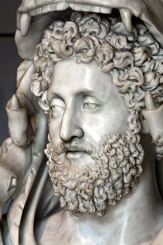 COMMODUS son of Marcus Aurelius was the first emperor was happening… Ancient Rome, Ancient Art, Ancient History, Ancient Greek, Roman Sculpture, Sculpture Art, Sculptures, Roman History, Art History