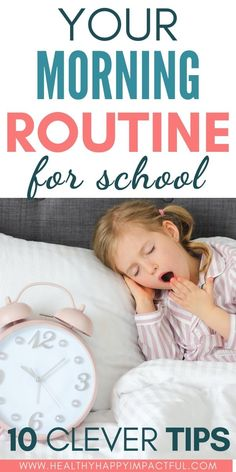 The best 10 tips for your morning routine with kids. Enjoy stress-free mornings before school and give your entire household a new perspective. #backtoschoolroutine #schoolmorningroutine