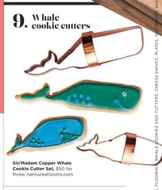 Whale cookie cutters nantucketlooms.com