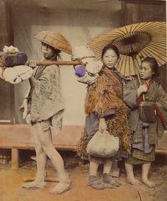Rural Japanese postman. Old Japan