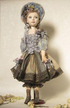 Gerda mobile doll boudoir doll  art doll  OOAK by NataFo on Etsy, $560.00