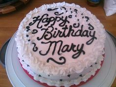 Happy Birthday Mary Cake