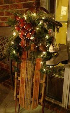 Christmas | Sled decor idea