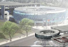 Artist Rendition of Proposed #ISHOF #SantaClara Swim Center. Swimming World obtained photos of the proposed Santa Clara Swim Center, future home of the International Swimming Hall of Fame. The city of Santa Clara hopes to build a new 3-acre International Swim Center on the other side of Central Park from its current aquatics facility that would eventually house the 7,500-square-foot Hall of Fame.