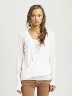 Folded Cotton Long Sleeve Drapefront