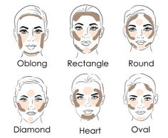 Did you know you can actually CONTOUR with SELF-TANNER for a look that doesn't wash off at the end of the day? Here's a quick guide to contouring based on your face shape. Our coconut milk self-tanner Face Shape Contour, Contour For Round Face, How To Contour Your Face, Contour Square Face, Contouring For Beginners, Makeup For Beginners, Contouring And Highlighting, Contouring Round Face, Contouring Guide