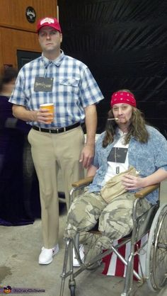 Forrest Gump and Lt. Dan - 2012 Halloween Costume Contest