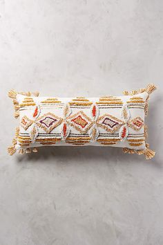 "Pushkar Pillow - anthropologie.com - 12""x 27"" - $98 -  MY FAVORITE OPTION FOR YOUR BED"