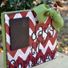 12 Days of Stenciling: Chevron Stenciled Christmas Crafts