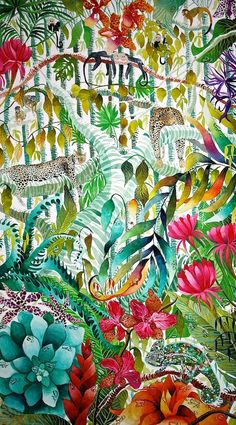 Deep in the Jungle - Kate Morgan - Artist & Illustrator