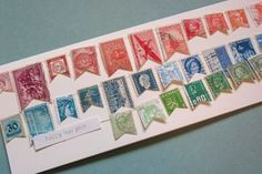 Postage stamp banner by d sharp    great for cards, scrapbook pages and more !