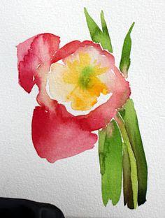 laura's watercolors: tulip