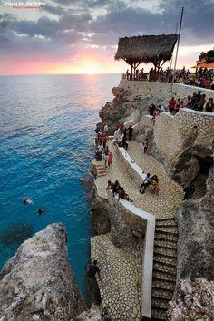 Sunset At Rick's Cafe - Caribbean Sea, West End, Jamaica