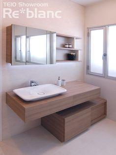 オーダー洗面「曲面とシャープの対比が美しい洗面カウンター」 l Re*blog(リ*ブログ) リブランのすみココ