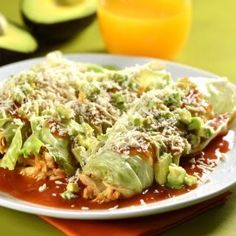 Enchiladas Bajas en Carbohidratos