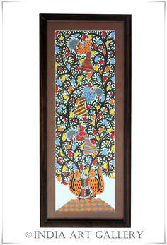 Madhubani paintings or Mithila Art is a style of Indian art painting, practiced in the Mithila region of Bihar state, India. Our Madhuba. Indian Traditional Paintings, Indian Art Paintings, Madhubani Art, Madhubani Painting, Indian Illustration, Indian Folk Art, India Art, Mexican Art, Design Art