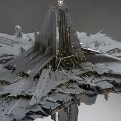 Continuing to show off the work we've done for the EVE structures with the medium size citadel! The 50km Astrahus is the smallest one out of the citadels lineup. This one was started in collaboration with Borkur Eiriksson. The idea here was that the station was designed/grew organically (kinda like real cities) around a single towering central structure representing some kind of a corporate stronghold, with other citadel sizes being a variation on that (though we ended up doing different...