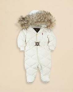 42eef422b Quilted Down Snowsuit Bunting - Baby Girl Outerwear   Jackets ...