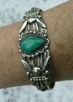 Sterling Silver Royston Turquoise Fred Harvey Era, Bell Trading Co.Navajo Cuff #SterlingBellTradingCo