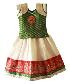 White and green gorgeous pattu pavadai for size : 3 - 4 years Prince : Rs 1375 Free shipping  Queries? whatsapp : +91-9629187349  http://www.princenprincess.in/index.php/home/product/238/Green%20and%20white%20designer%20pavadai
