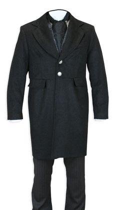 Griffith Frock Coat - Heather Black $238.95