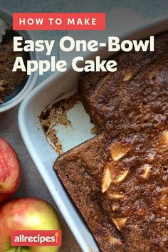 "How to Make Apple Cake | ""Here are a few tips to guarantee that your Easy One-Bowl Apple Cake baking is every bit the easy, breezy experience you need it to be."" #cakerecipes #bakingrecipes #dessertrecipes #cakes #cakeideas"