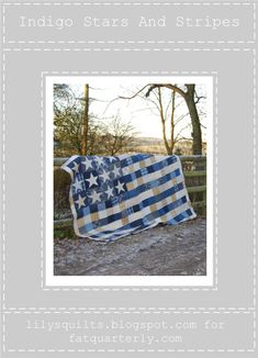 Free Stars and Stripes Quilt Pattern strips in the traditional red and white