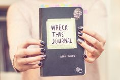 Wreck This Journal: cannot wait until Kendall is old enough for this! ill prob do one w her :-)