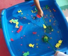 """Greatest Resource Preschool - Sensory - After reading """"One Fish, Two Fish, Red Fish, Blue Fish"""""""