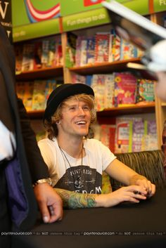 Dougie at book signing for The Dinosaur That Pooped A Planet
