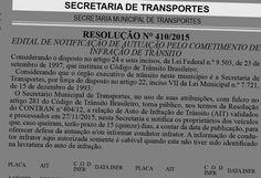 Multas de trânsito: Edital SETRANSP Campinas concede prazos para defesas/recursos e indicação de real condutor infrator 74550 2.12.15 +http://brml.co/1Is8XLY