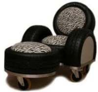 Leunstoel van gerecyclede autobanden. Recycled Tires, Tyres Recycle, Tire Art, Anna, Chairs, Crafty, Deco, Room, House