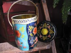 Vintage Candy Tin With Handle London by smileitsvintage on Etsy, $7.00