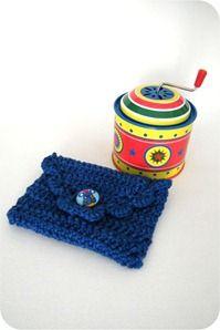 como fazer envelope de crochê