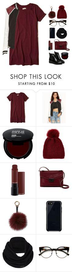"""Black jacket!"" by askhaerunisa ❤ liked on Polyvore featuring Hollister Co., Kyi Kyi, MAC Cosmetics, Loeffler Randall, Surell, Belkin, prAna, WithChic and romwe"