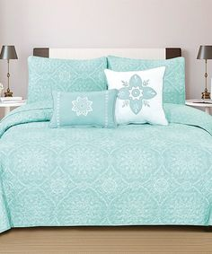 Look what I found on #zulily! Icy Morn Kiara Collection Five-Piece Quilt Set by Home Fashion Designs #zulilyfinds